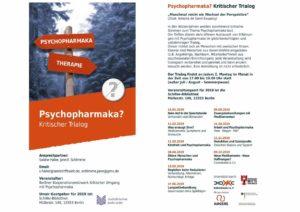 Psychopharmaka? - Kritischer Trialog - Termine ab Januar 2019 mit aktualisierten Terminen